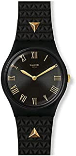 Swatch Lancelot Quartz Black Dial Ladies Watch GB324