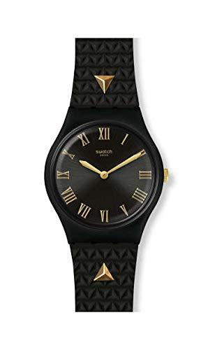 Swatch Reloj Analógico para Mujer de Cuarzo Suizo con Correa en Silicona GB324