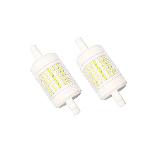 R7S LED 78mm Dimmbar 15W Kaltweiß 6000K, 1500LM, Ersatz R7S J78 120W-150W Halogenstab, AC 230V, Keramik Stablampe R7S 78mm LED Dimmbar für Deckenlampe, 2er-Set