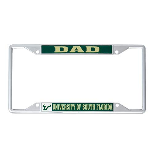 Desert Cactus University of South Florida USF Bulls NCAA Metal License Plate Frame for Front Back of Car Officially Licensed (Dad)