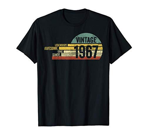 54 Year Old Legendary Retro Vintage Awesome Birthday 1967 Camiseta