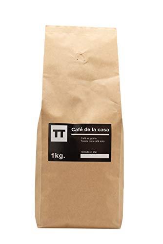 Cafe en grano Natural Arabica 100 % 1kg - Espresso - Cafe de la Casa - Tusell Tostadores
