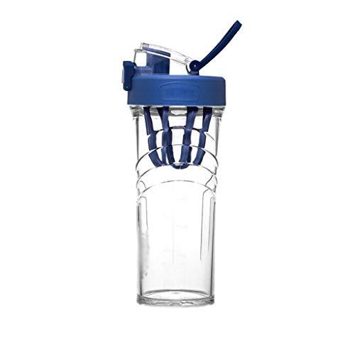 WPBOY Taza Termo con Asa Plástico Portátil Deportes Deportes, Recorrido Portátil Tritan Plástico Taza De Agua Proteína Polvo Regalo Taza Creativa (Color : Blue)