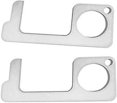 Contactless Safety Door Opener, Portable Contactless Safety Door Opener Safety Protection Isolation Brass Key Door Opener Hook Keychain