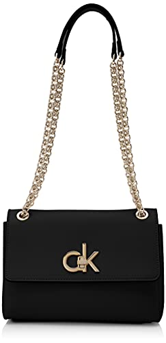 Calvin Klein RE-Lock, Crossovers para Mujer, CK Negro, One Size