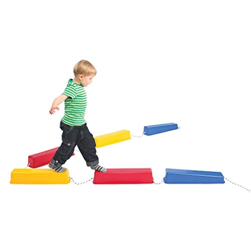 Edx Education Step-a-Logs - Supplies for Physical Play - Indoor and Outdoor - Exercise and Gross Motor Skills - Stackable - Build Coordination