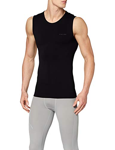 FALKE Herren, Singlet Warm Close Fit Funktionsfaser, 1 er Pack, Schwarz (Black 3000), Größe: S