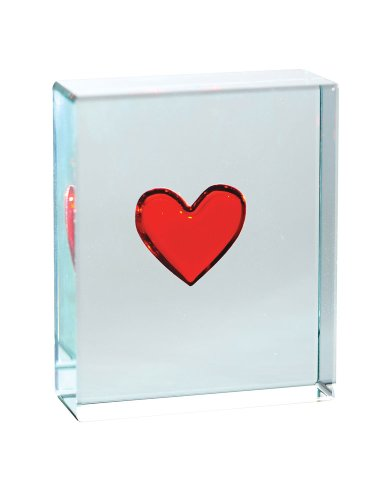 Spaceform Jeton – – Coeur Rouge Transparent – 001