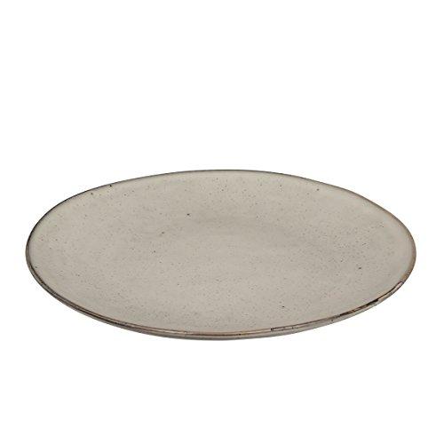 Broste Copenhagen - 14533019 - Teller, Essteller, Speiseteller - Steingut - 'Nordic Sand' Farbe: creme-beige-natur - Ø 26 cm