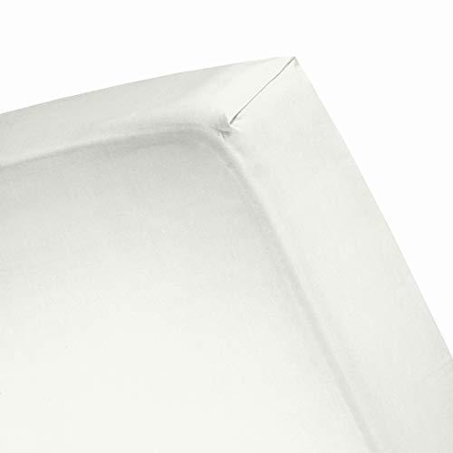 Cinderella hoeslaken flanel ivory Lits-jumeaux XW - XL (200x200/210)