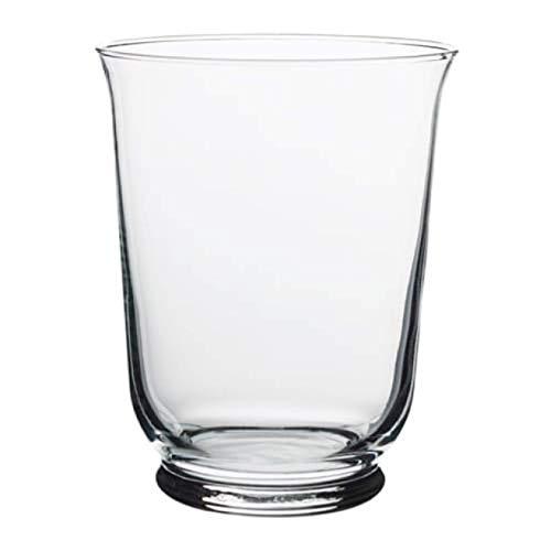 "IKEA Pomp Vase Candle Holder Clear Glass 803.265.37 Size 7"""