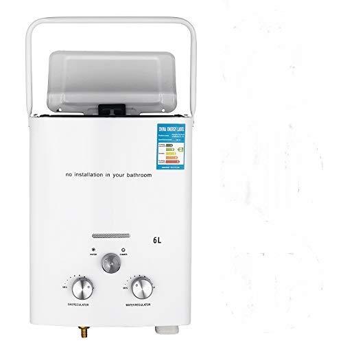 VEVOR Calentador de Gas 6L, Calentador de Agua de Gas 6L, Calentador de Agua a Gas GLP, Calentador Gas Natural, Calentador de Agua, con Una Pantalla LED, para Montar en La Pared, Portatil