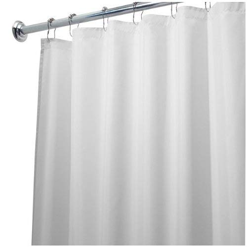 InterDesign Waterproof Mold and Mildew-Resistant Fabric Shower Curtain, 72-Inch by 72-Inch, White