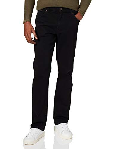 Wrangler Texas Hommes Jeans réguliers, Noir (Black Overdye 004), W34/L34