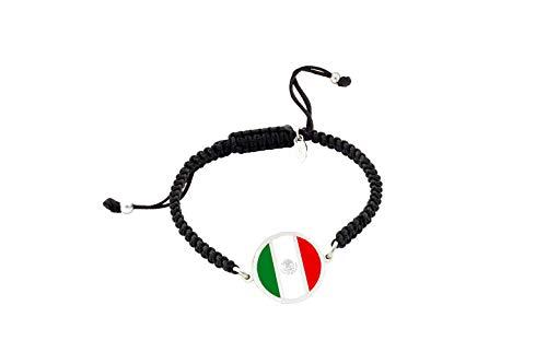 Mexican Flag Bracelet | Women's Bracelet and Men's Bracelet | Personalised Bracelet | Original Gift | Mexico Flag | I Stay at Home Personalised