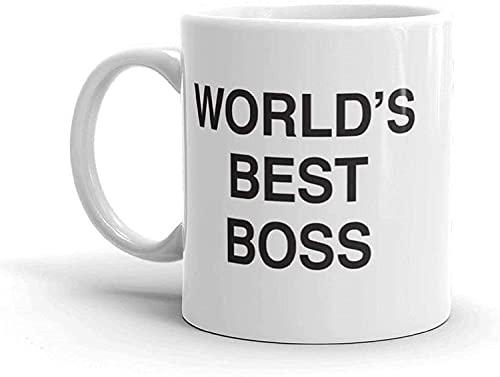 The Office-World's Best Boss Mug,Dunder Mifflin Ceramic Mug-11 oz