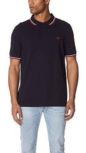Fred Perry Herren M3600-471-s Poloshirt, Blau (Navy/White 471), Small