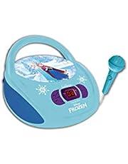 Disney RCD108FZZ Frozen-Reproductor Radio CD, Altavoz portátil con Micrófono Incluido (Lexibook