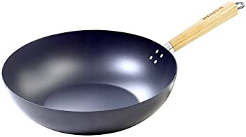 Imusa USA 11 Inch Nonstick Wok with Wood Handle