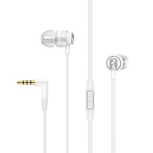 Sennheiser CX 300S In Ear Headphone with One-Button Smart Remote - White