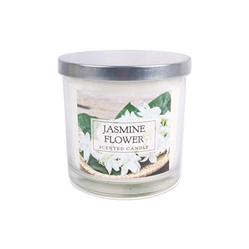 Home Traditions 3-Wick Evenly Burning Highly Scented 4x4' Large Jar Candle with 45+ Hour Burn Time (14.5 Oz) - Jasmine Flower Scent