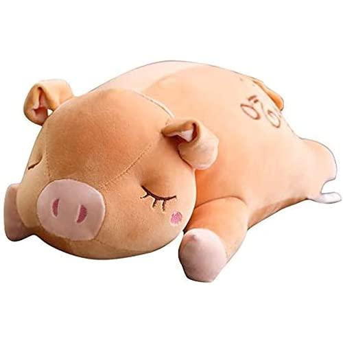 Edojiei Abraza Las Almohadas de Peluche Suaves, cómodas con tapetes de Almohadas de Felpa, Dormir, cumpleaños de Nuevo Cerdo/Regalo Familiar 25 cm
