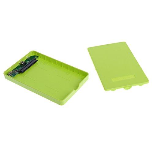 #N/A SATA Laptop 2.5 'USB 2.0 External Hard Drive Enclosure Case Cover Incl. - Green
