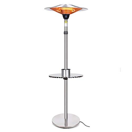 Great Features Of Electric Outdoor Heater - 2.1/3KW Halogen Patio Heater, Waterproof Space Heater wi...