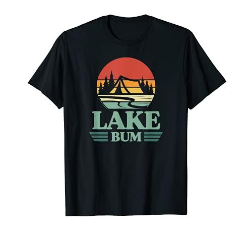 Lake Bum Retro Camping Tent Sunset Lake Life...