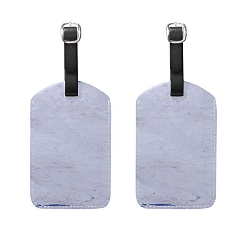 Blue Vintage Purple Romantic Design Pattern Pu Leather Id Tags Business Card Holder Labels Baggage Suitcase Luggage Tags Travel Accessories