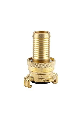 Gardena Messing-Saug- und Hochdruckkupplung für 25 mm (1 Zoll)-Schläuche: Kupplung für Schläuche und Saugleitungen, bis 40 bar, lösungssicher (7121-20)