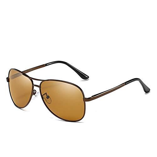 Amyove - Gafas de Sol polarizadas para Hombre y Mujer, Color de la Crema Solar, Lentes modificadas para Deportes al Aire Libre, 7. Tea Frame Teelinsenscheibe