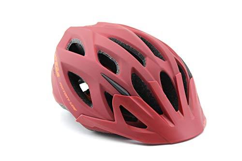 KTM Helm Fahrradhelm Unisex rot/orange matt Factory Line, Helmgröße:58-62