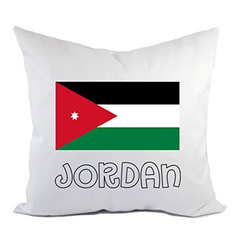 Typolitografie Ghisleri Kissen Jordanien Flagge Kissenbezug & Füllung 40 x 40 cm aus Polyester