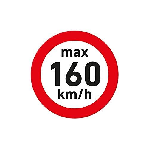 Pegatinas de velocidad para neumáticos de invierno (25 unidades, 160 km/h, diámetro de 2,5 cm), color blanco