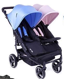Baby Monsters-silla de paseo gemelar color rosa y azul