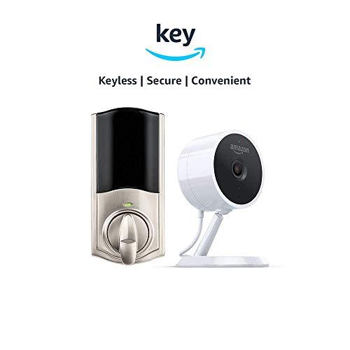 Kwikset Convert Smart Lock Conversion Kit + Amazon Cloud Cam | Key Smart Lock Kit (Nickel)