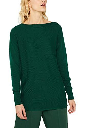 ESPRIT Damen 099EE1I053 Pullover, Grün (Bottle Green 385), Medium (Herstellergröße: M)