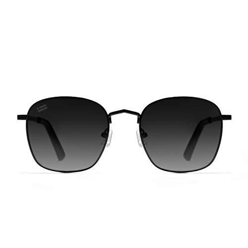 D.Franklin Unisex-Erwachsene CLASSIC METAL SQUARE GRAD BLACK Sonnenbrille, Normal