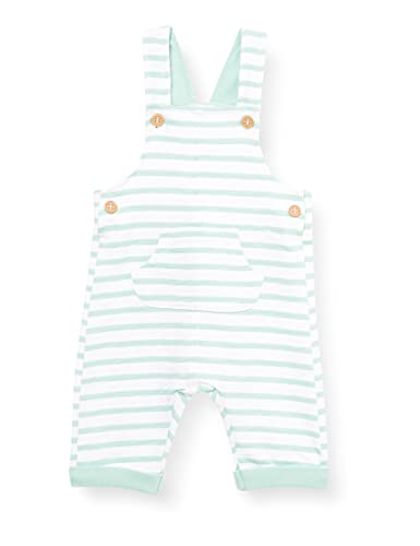 United Colors of Benetton Salopette 3qnymt155 Overol, Allover A Rayas Blancas Y Azules 60u, 50 cm para Bebés