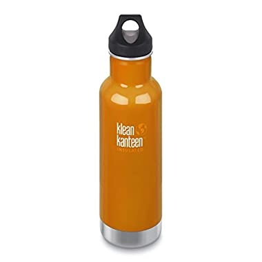 Klean Kanteen Canyon Orange Classic Vacuum Insulated Storage with Loop Cap, 20-Ounce