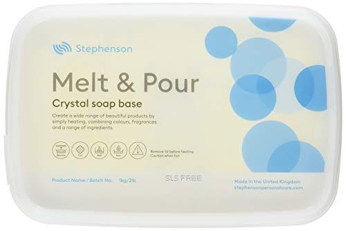 Base de jabón para derretir y Verter Transparente, sin SLS, 2 kg