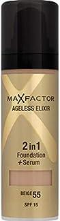 Max Factor Ageless Elixir 2 in 1 Foundation + Serum 30ml Beige 55
