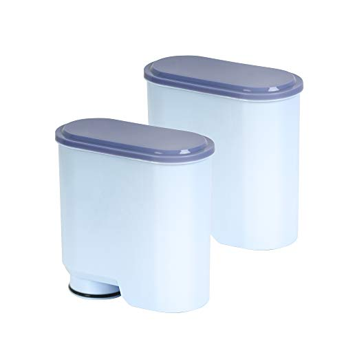 Wasserfilter für Saeco und Philips Kaffeevollautomaten, Wasserfilter Kompatibel mit Philips/Saeco AquaClean Kaffeevollautomat (2er)