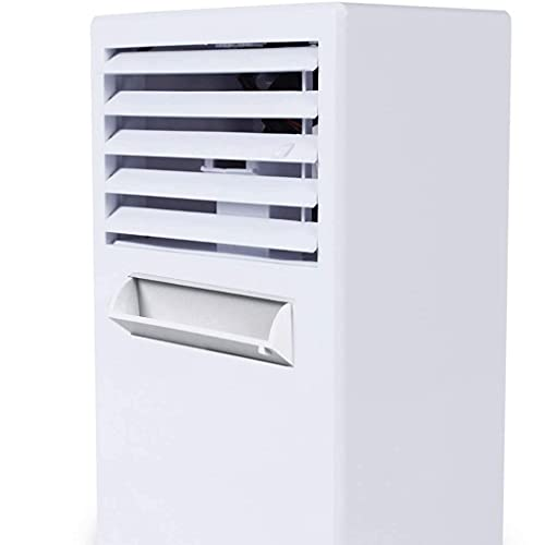 SBSNH Personal Cooler Space Mini Ventilador de Aire Acondicionado portátil, Ventilador de Escritorio pequeño Personal Table Fan Compact Evaporative Air Circulator (Color : A)