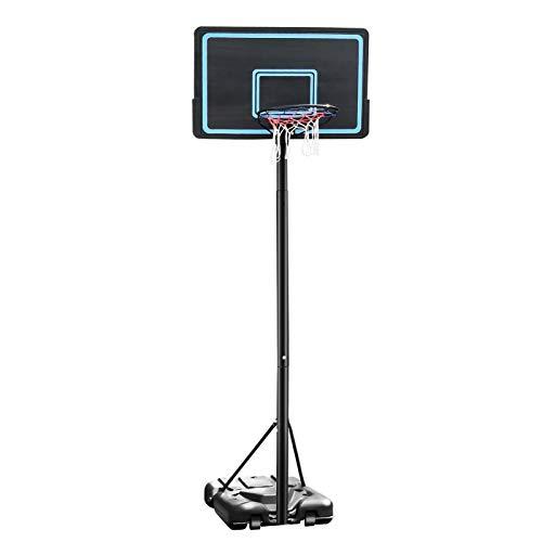 libelyef Aro de baloncesto para niños, juego de aro de baloncesto y soporte ajustable para niños y adultos, altura ajustable 2,3 – 3,05 m