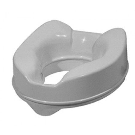 Bricozone Rialzo per WC 14 cm Alzawater Bidet Anatomico con Fermi a Viti Laterali- Altezza 14 cm Larghezza 36.5 cm profondità 40.5 cm - Bianco