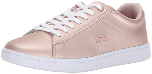 Lacoste Women's Carnaby EVO 118 7 SPW Sneaker, Natural/White, 9.5 M US