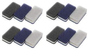 ダスキン台所用スポンジ3色セットモノトーンN新色ネイビー抗菌タイプ12個(3個セットX4パック)