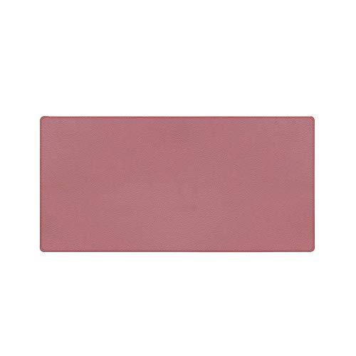 Tapete de mouse de dupla face Tapete de mesa de couro PU de cortiça ecológica Tapete de mouse à prova de poeira à prova d'água para escritório em casa Rosa 60 * 35 cm